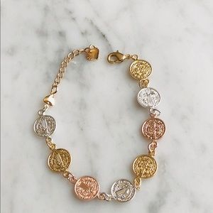 Jewelry - New Gold plated Saint Benedict bracelet
